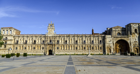 San Marcos Monastery of the sixteenth century in Leon. Spain Stock Photo