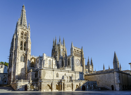 Cathedral in Burgos, Spain, which is under protection of UNESCO  Stock Photo