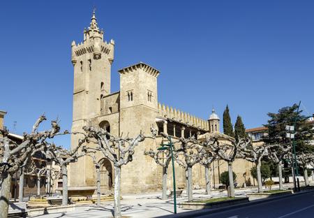 church of the Savior, Ejea de los Caballeros, Saragossa Spain Stock Photo