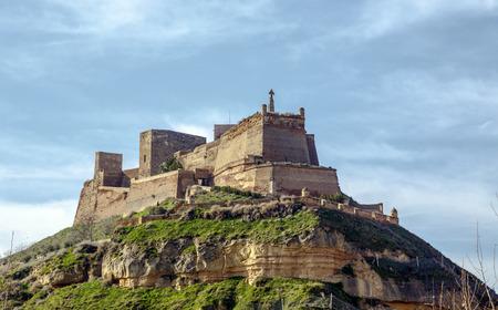 The Templar castle of Monzon. Of Arab origin (10th century) Huesca Aragon Spain