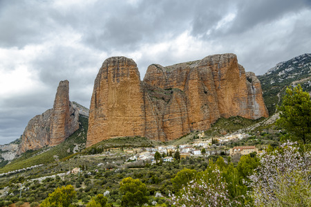 Mallos De Riglos are the picturesque rocks in Huesca province of Spain