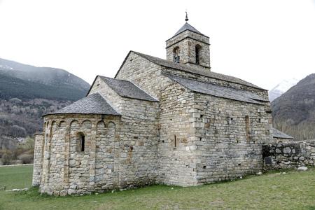 felix: Roman Church of Sant Feliu in Barruera, (Catalonia - Spain). This is one of the nine churches. Stock Photo