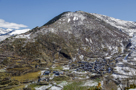 Village of Durro, at the foot of the Catalan Pyrenees, Spain Stock Photo