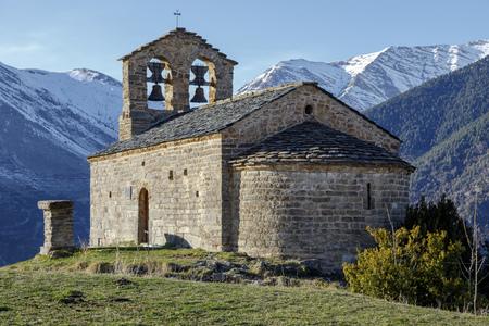 san quirico: Roman Church of Hermitage of San Quirce de Durro (Catalonia - Spain). This is one of the nine churches.