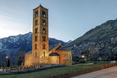 clement: Roman Church of  Sant Climent de Taull (Catalonia - Spain). This is one of the nine churches. Stock Photo