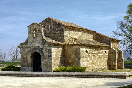 Church of San Juan Bautista, Banos de Cerrato, Palencia, Spain. Seventh century, declared National Monument