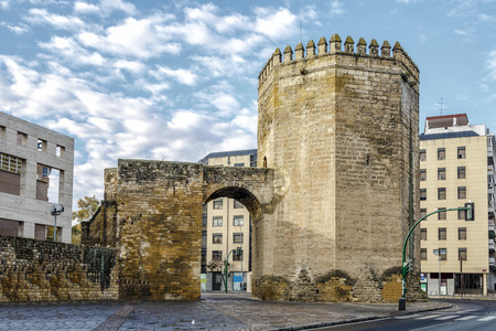 Malmuerta Tower is a watchtower located at the Santa Marina de Cordoba, Spain Stock Photo