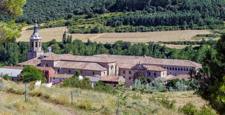 millan: Yuso Monastery in San Millan de La Cogolla, La Rioja, Spain  Stock Photo
