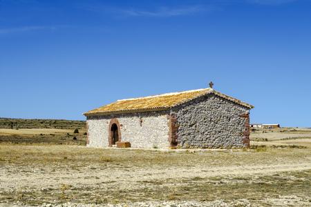 Hermitage of San Roque de Alobras Albarracin Teruel Spain Stock Photo