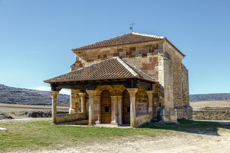 Romanesque chapel of La Soledad Palazuelos in Guadalajara province Spain