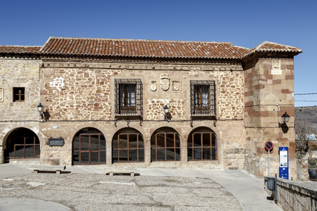 Plazuela of the jail in Siguenza Spain, Old town hall today of School of Music