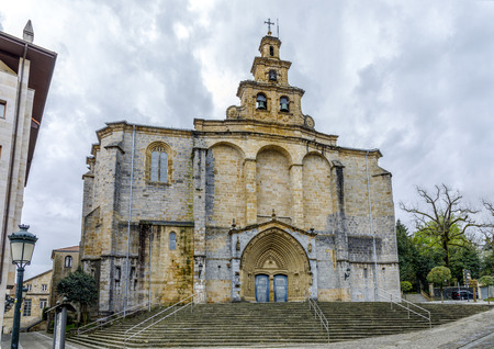The Iglesia Santa Maria church in Gernika, a historic town in the province of Biscay (Bizkaya), Basque Country, Spain. Stock Photo