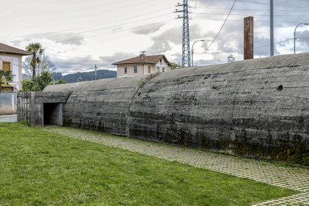 Air-raid shelter of the factory Astra in Guernica, Basque Country during the Civil war, Spain Redakční
