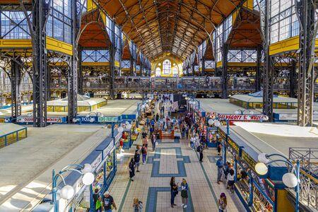 Budapest, Hungary - November 15, 2019: Great Market Hall or Central Market Hall in Budapest, Hungary