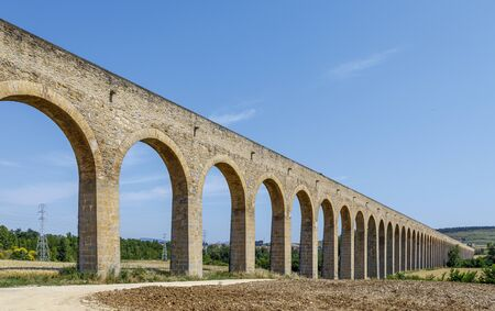 Aqueduct of Noain near Pamplona city Navarra Spain