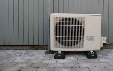 heat pump: Heat pump Stock Photo