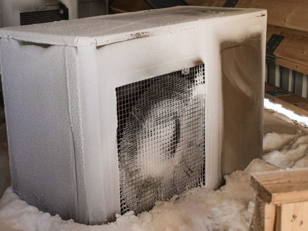 heat pump: Heat pump Frozen