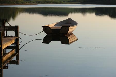 still water: Boat on still water