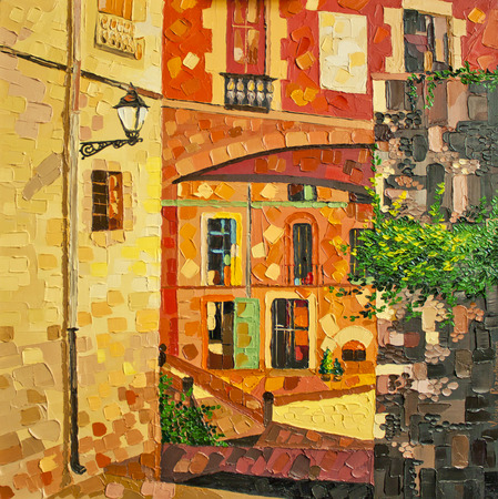 expressionism: painting Girona, oil on canvas