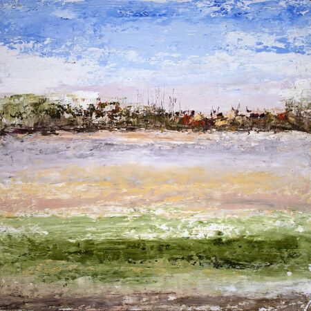 Abstract sammer landscape oil painting art expressionism