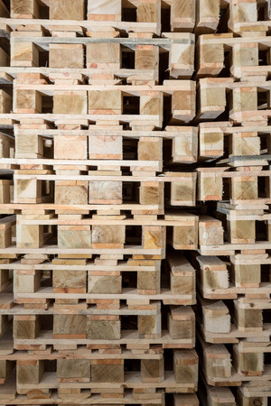 detail of stock wood pallet
