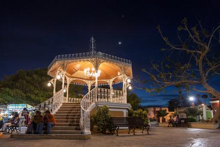 SAN JOSE DEL CABO , MEXICO -MARCH 25, 2012 : Night view of  Zocalo - Plaza Antonio Mijares in  San Jose del Cabo, popular touristic destination on Baja California, Mexico Editorial
