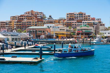 CABO SAN LUCAS, MEXICO -MARCH 20, 2012 : View on Cabo San Lucas marina,popular touristic destination on Baja California, Mexico. Holiday travel port in Mexico