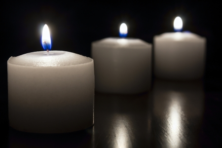 candles on dark background Stock Photo