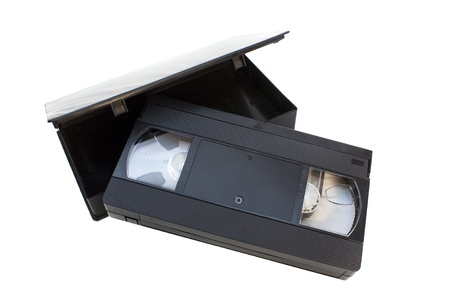 vhs videotape: vhs videotape with black box