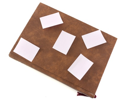 diary and  paper notes isolated photo