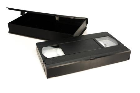 old black VHS Videotape tecnology photo