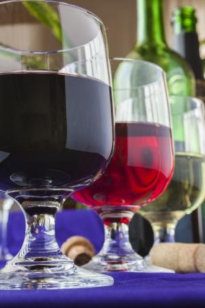 different wine glasses photo