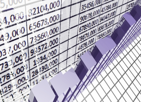calculation sheet with business graph Stock Photo - 15032622