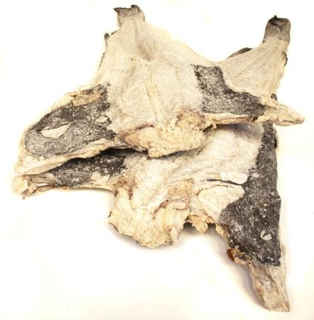 nutriments: bacalao aislado en blanco Foto de archivo