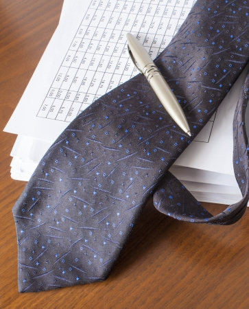 bills ,pen and necktie,accounting Stock Photo - 16030184