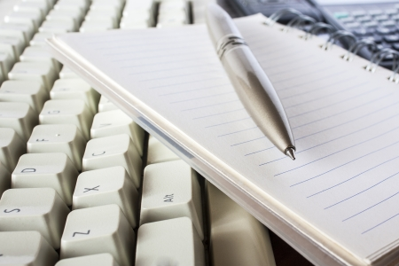 pen, notebook and keyboard,office Stock Photo - 16030129