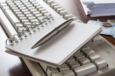Money, bills ,notebook and calculator,accounting Stock Photo - 16030147
