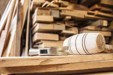hammers on carpentry Stock Photo