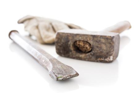 cincel: alba�il herramientas cincel y martillo, los antecedentes de la construcci�n