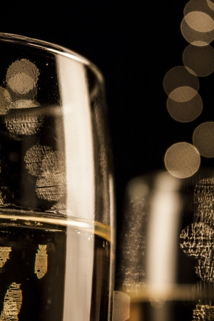 bubbly: Flutes of champagne in holiday