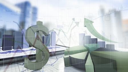 economical: dollar sign,economical stock market concept