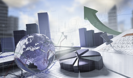 economical: Transparent world,economical stock market concept