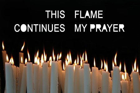 White Candle flames on a black background Stock Photo - 8017074