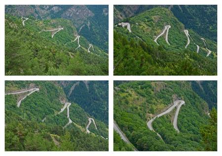 The famous hairpin curves of Alpe dHuez - Tour de France photo