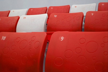 tribune: Detailed view on tribune seats Stock Photo