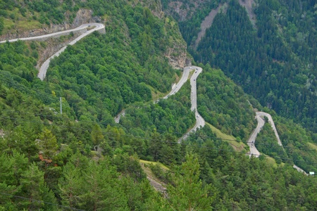 The famous hairpin curves of Alpe d'Huez - Tour de France Standard-Bild