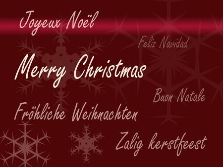 idiomas: Tarjeta de Navidad feliz en diferentes idiomas