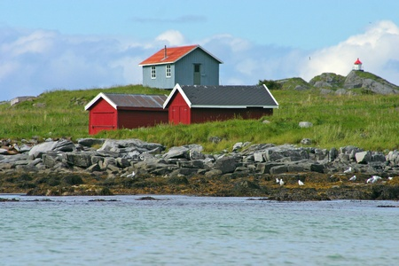 rorbu: Rorbu, Typical House at the Lofoten in Norway Stock Photo