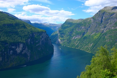 The Geiranger fjord  写真素材