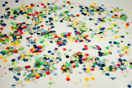 Background full with carnival confetti in all colors photo